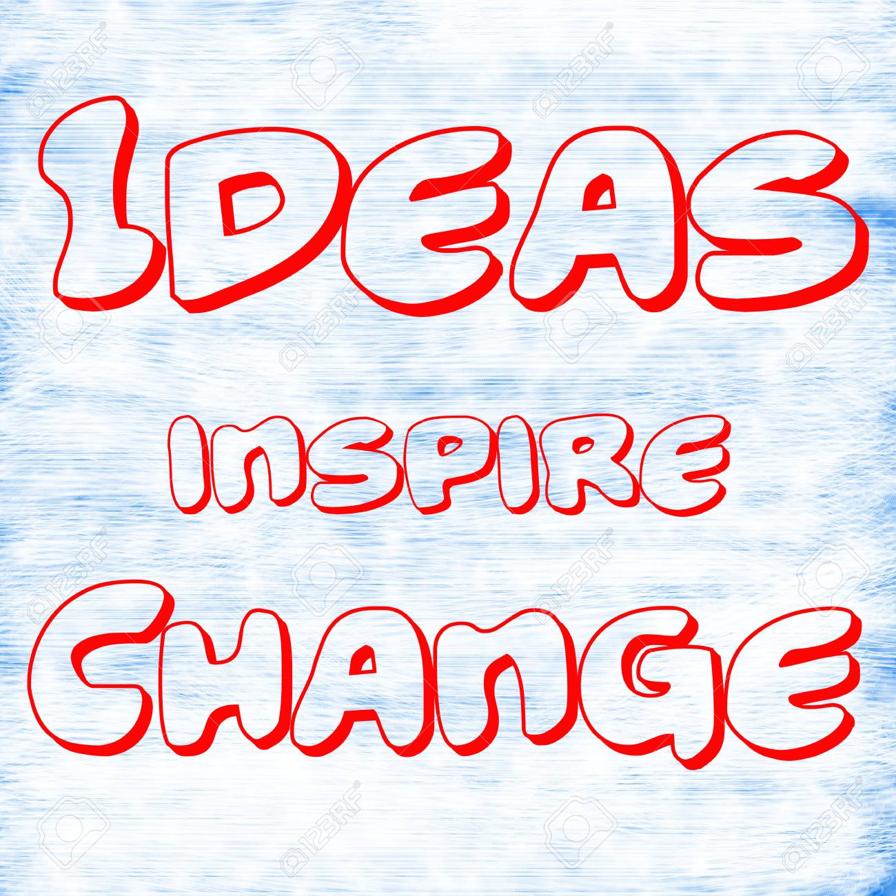 Ideas inspire Change Creative Inspiring Motivation Quote Concept