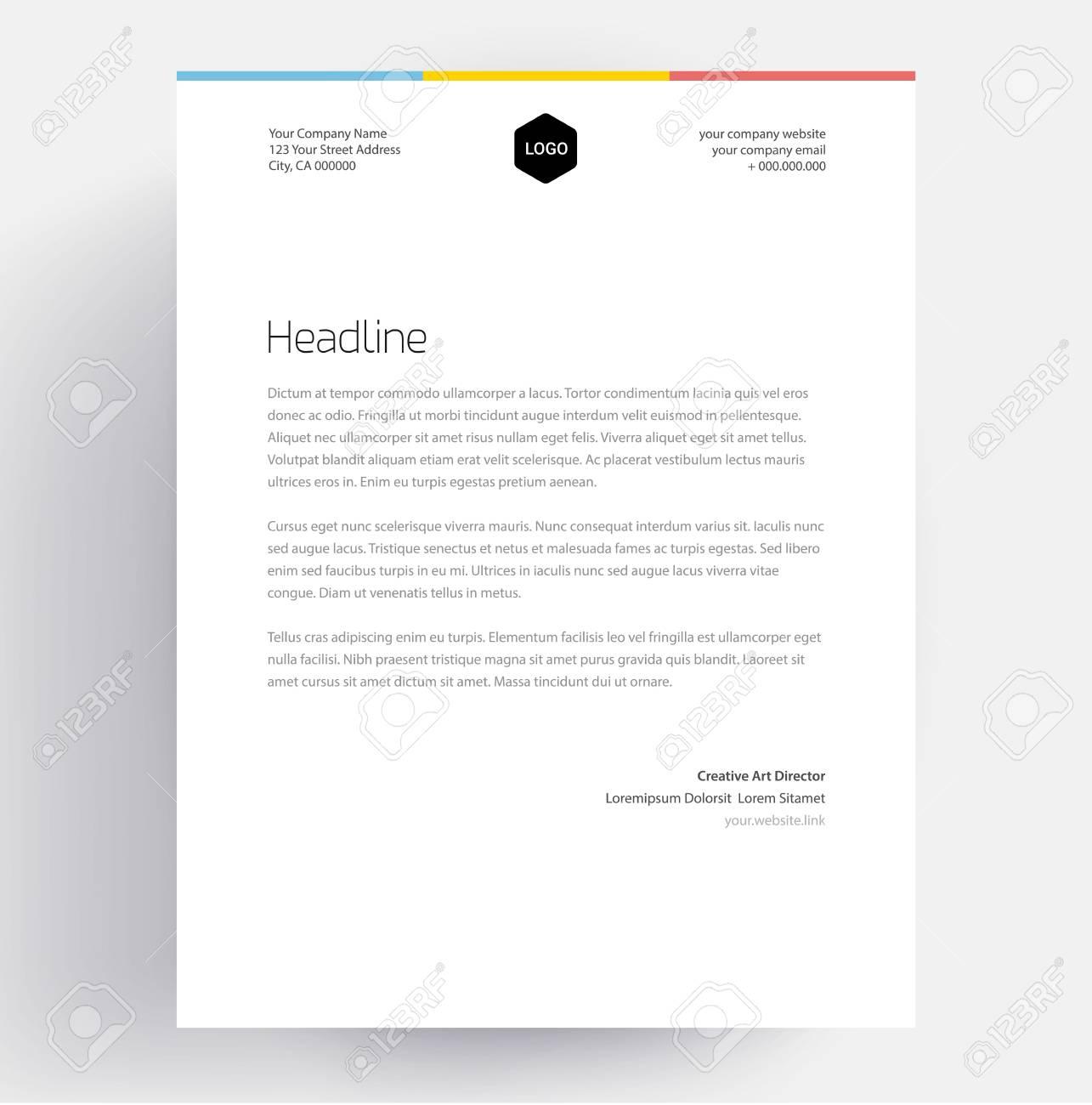 Elegant Letterhead Template Design In Editable Business Stock Vector