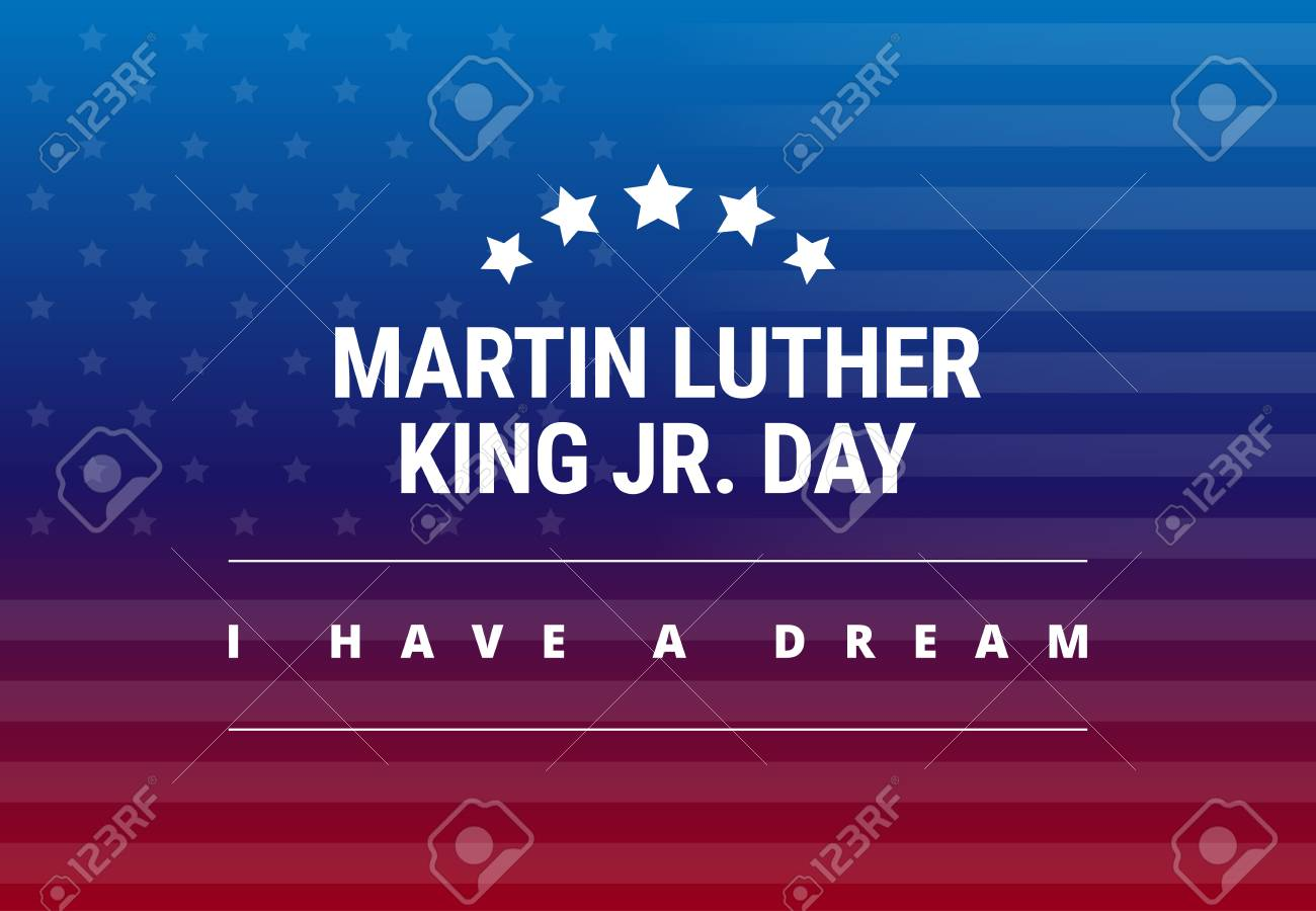 Martin Luther King Jr Day Greeting Card I Have A Dream