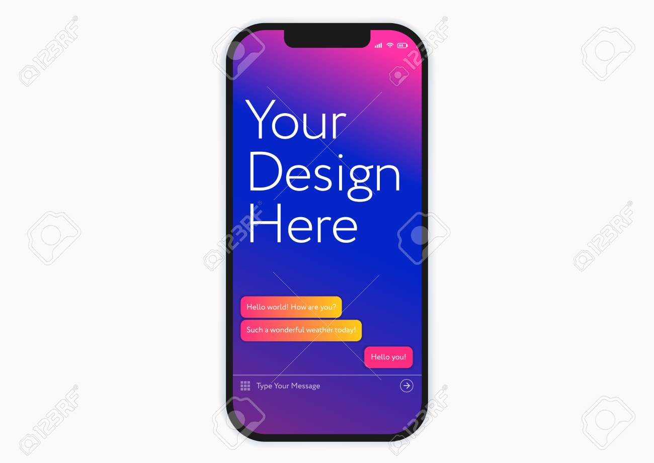 New black smartphone mobile phone mockup - perfect template for