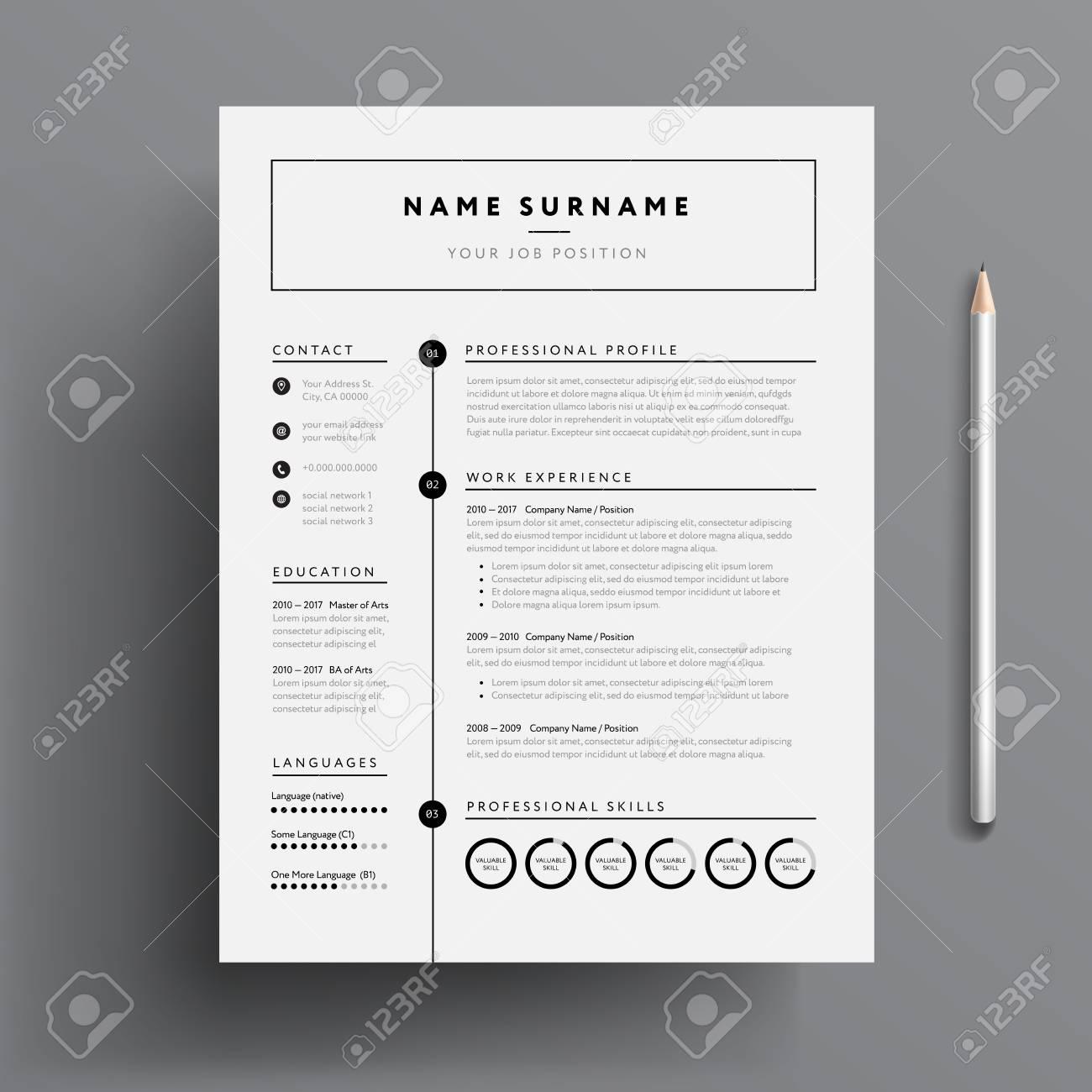 Minimal Professional Cv Resume Template Super Clean Modern
