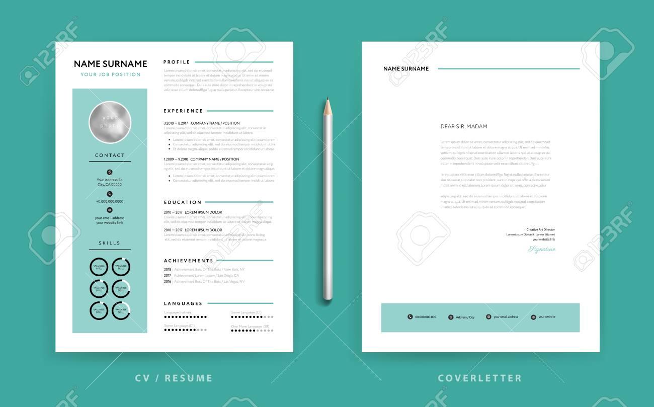 Cv Resume Design Template And Cover Letter Design Green