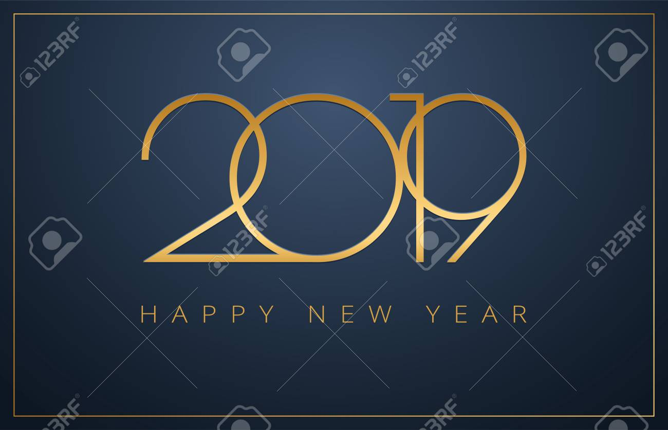 classy 2019 happy new year background golden design for christmas and new year 2019 greeting