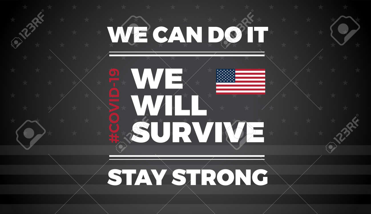 Patriotic background with inspirational quote about template for USA news, background, banner, poster, website, brochure cover - illustration - 147504721