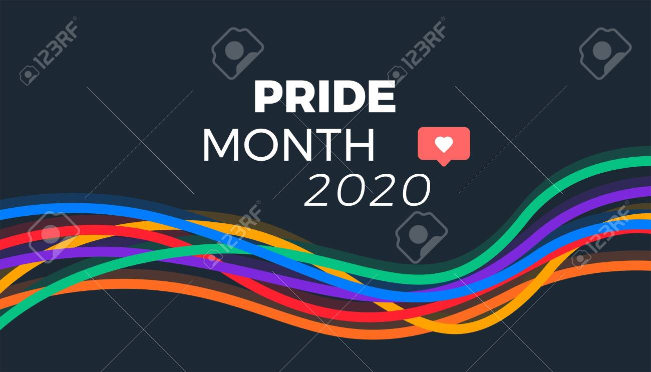 Pride month 2020 abstract colorful lines - 149698178