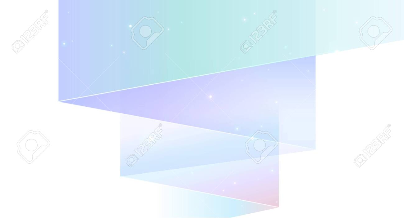 Northern lights abstract background isolated on white - modern geometric shapes - 150968662