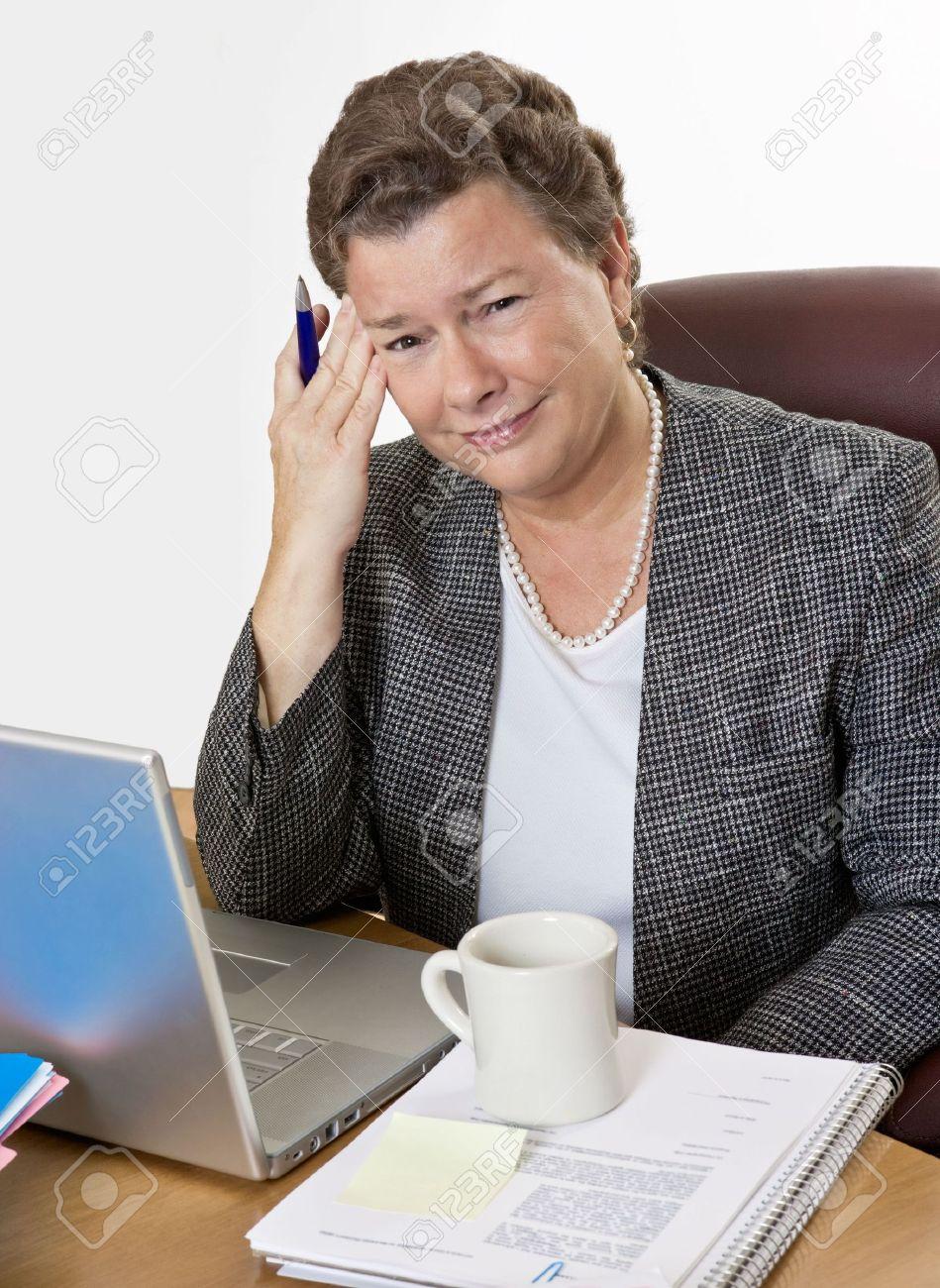 Horny mom fucks son in office