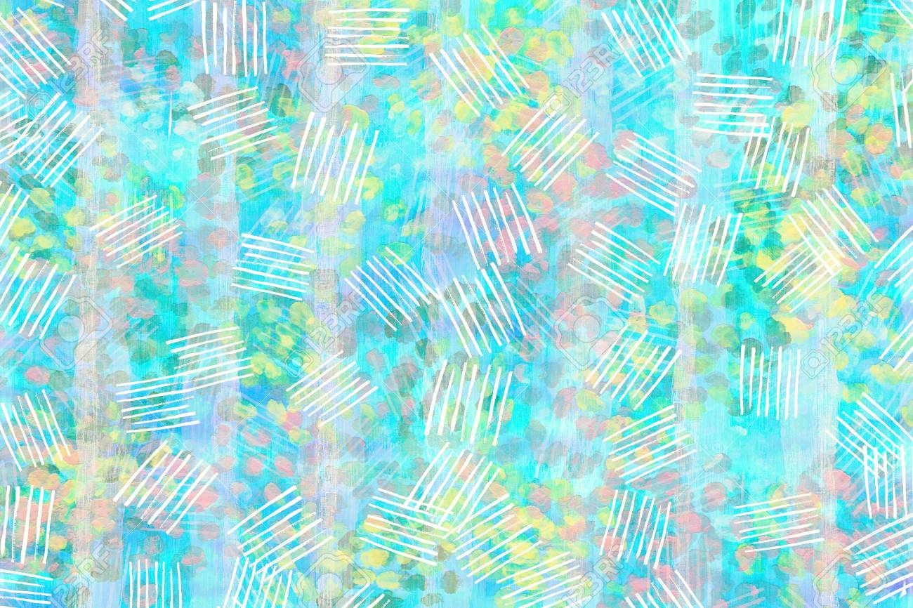 Blue Light With Yellow Pink And Green Pastel Color Abstract