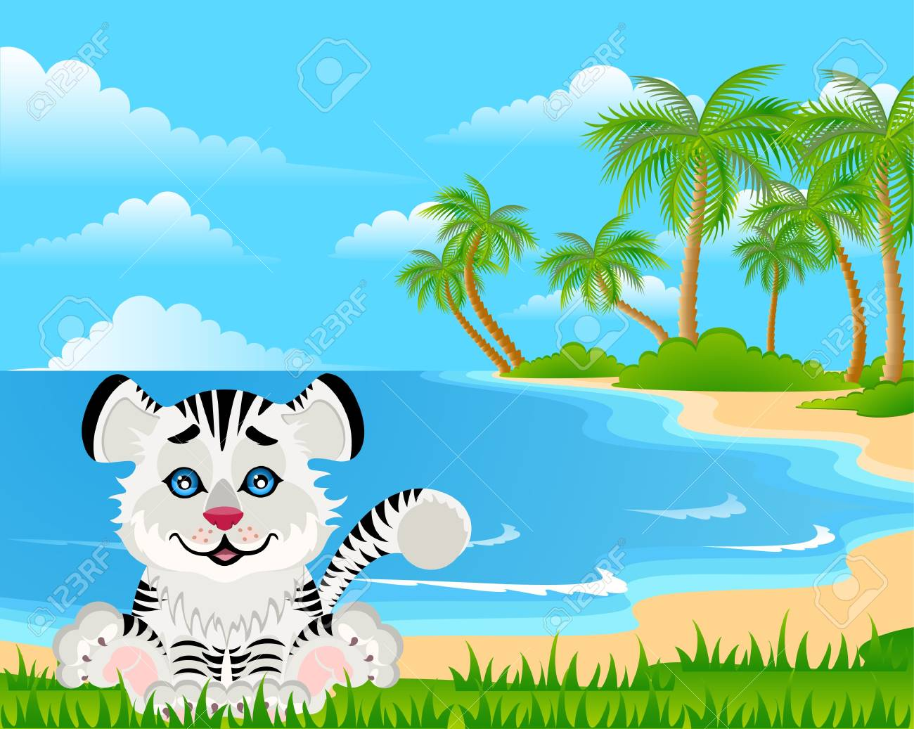 Lovely tiger toddler Stock Photo - 5368901