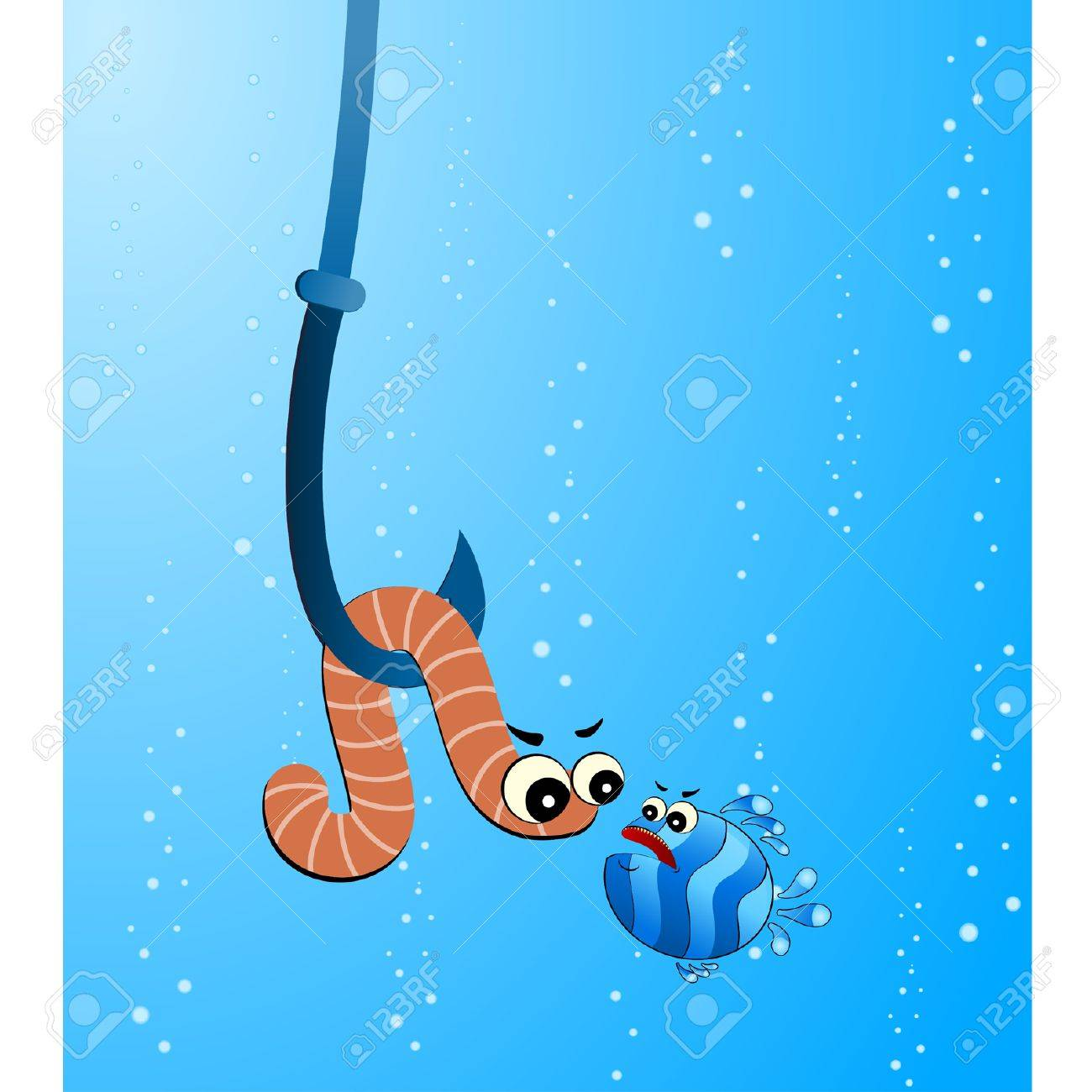 Fish Eating Fish Cartoon Little Cartoon Funny Fish Eats
