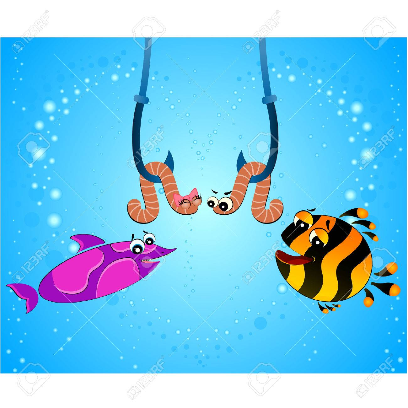 Fish Eating Fish Cartoon Big Cartoon Funny Fish Eats a