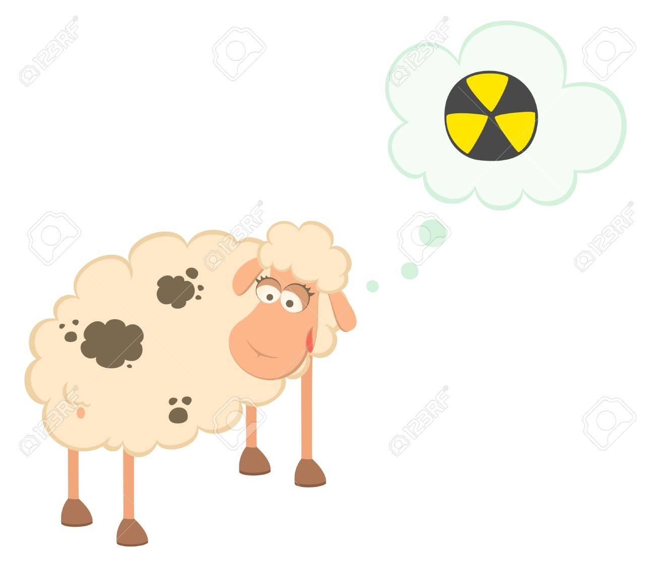 cartoon sick sheep Stock Photo - 7466783