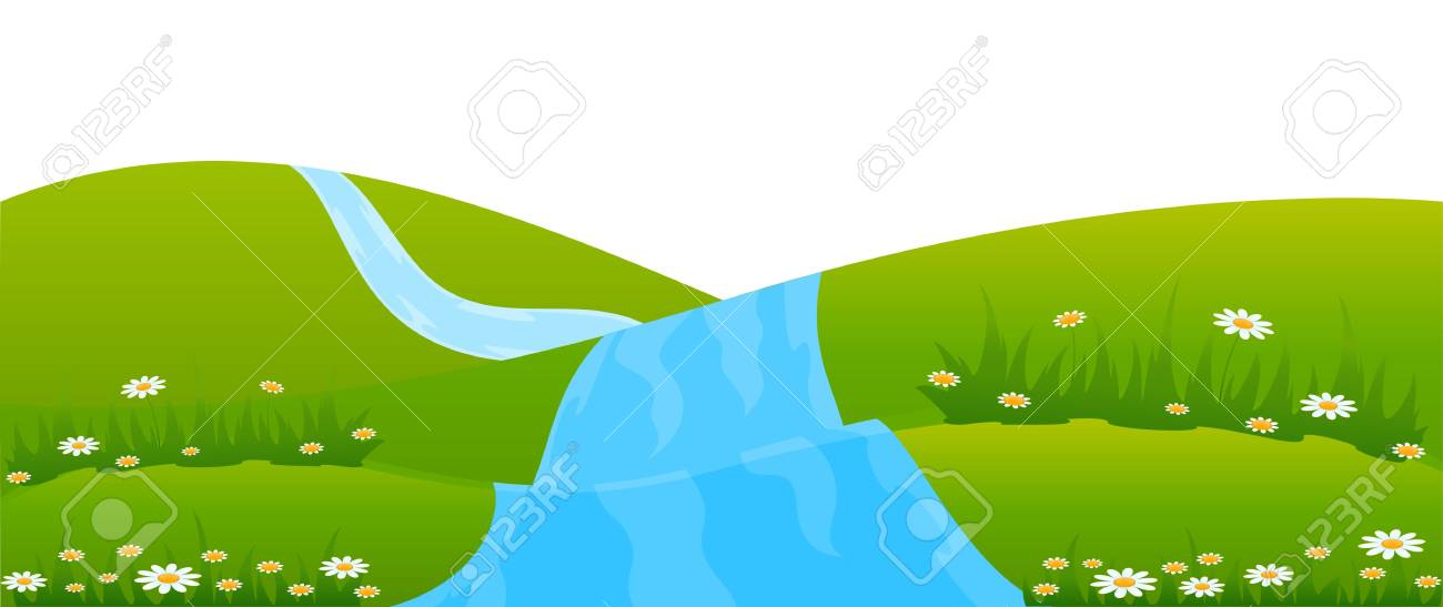 Country Landscape with river Stock Photo - 7522486
