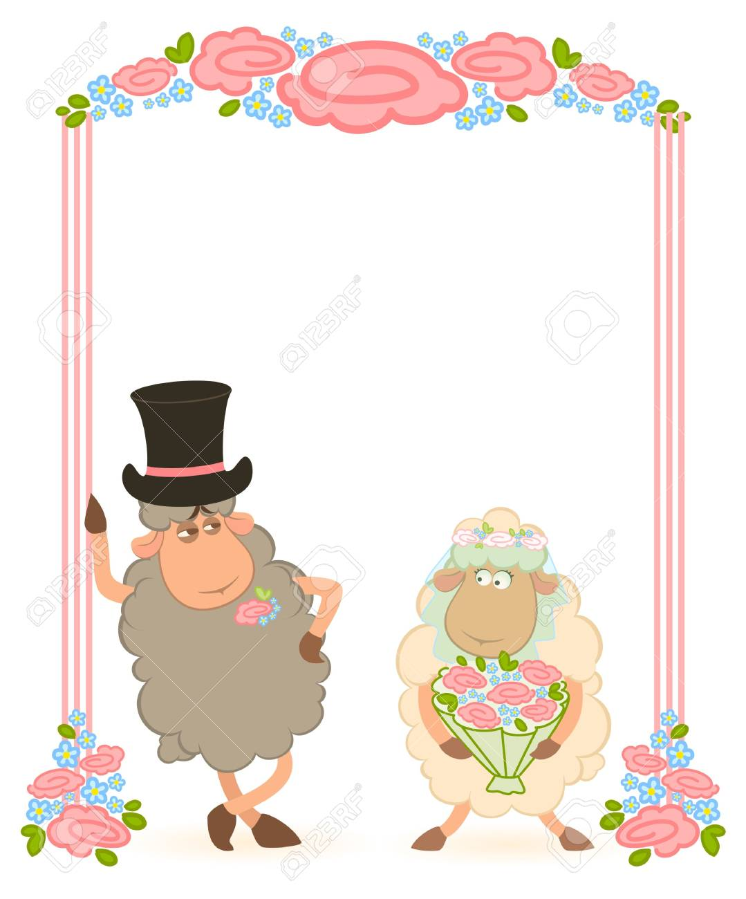 sheep bridegroom and bride Stock Photo - 7881090
