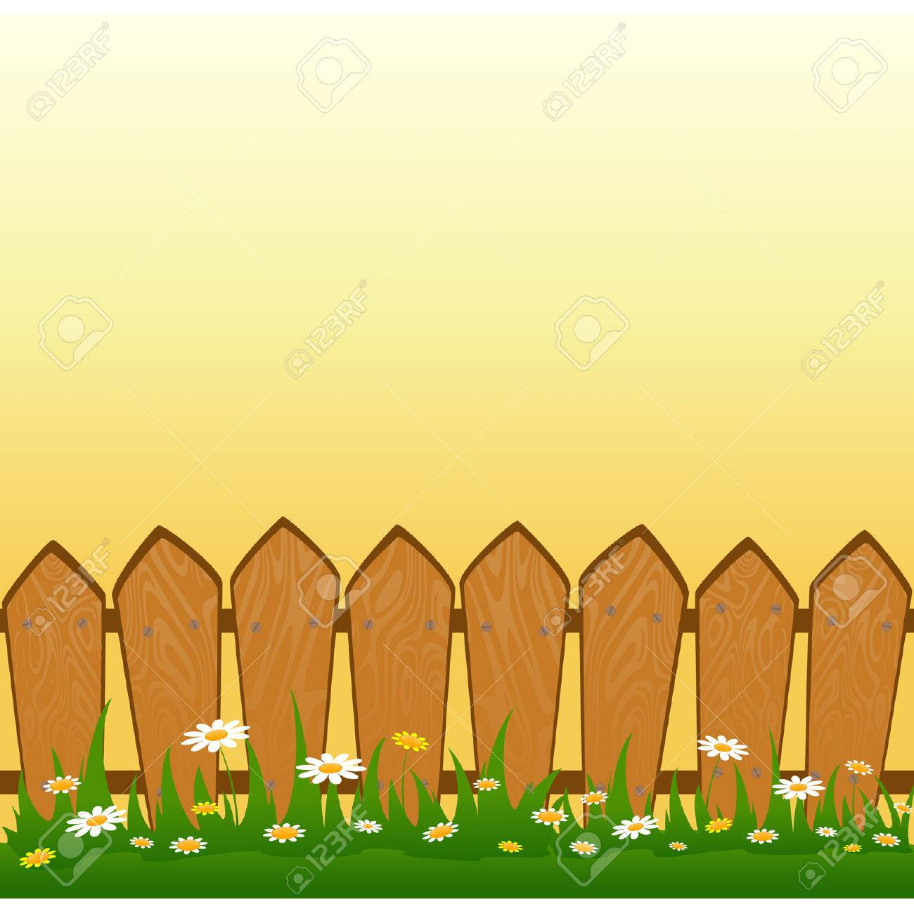 Country Fence Stock Vector - 7984247