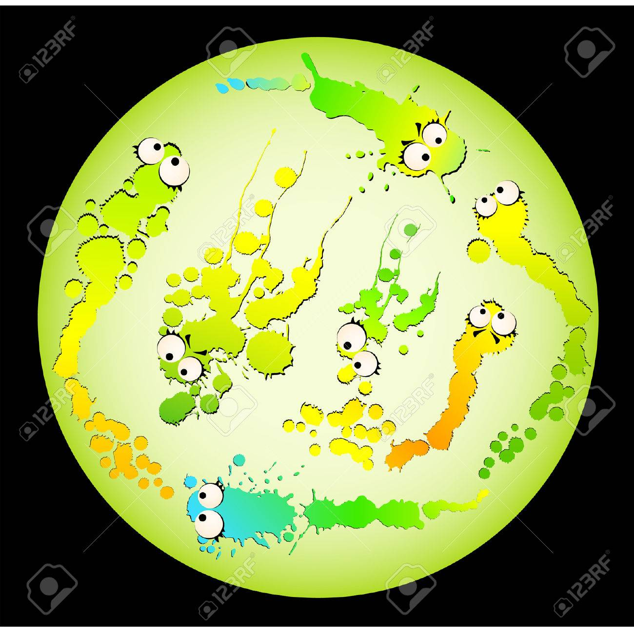 virus and germs Stock Vector - 8565700