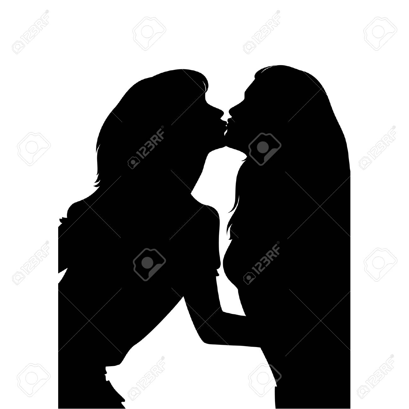 silhouette of girls is isolated Stock Vector - 8607570