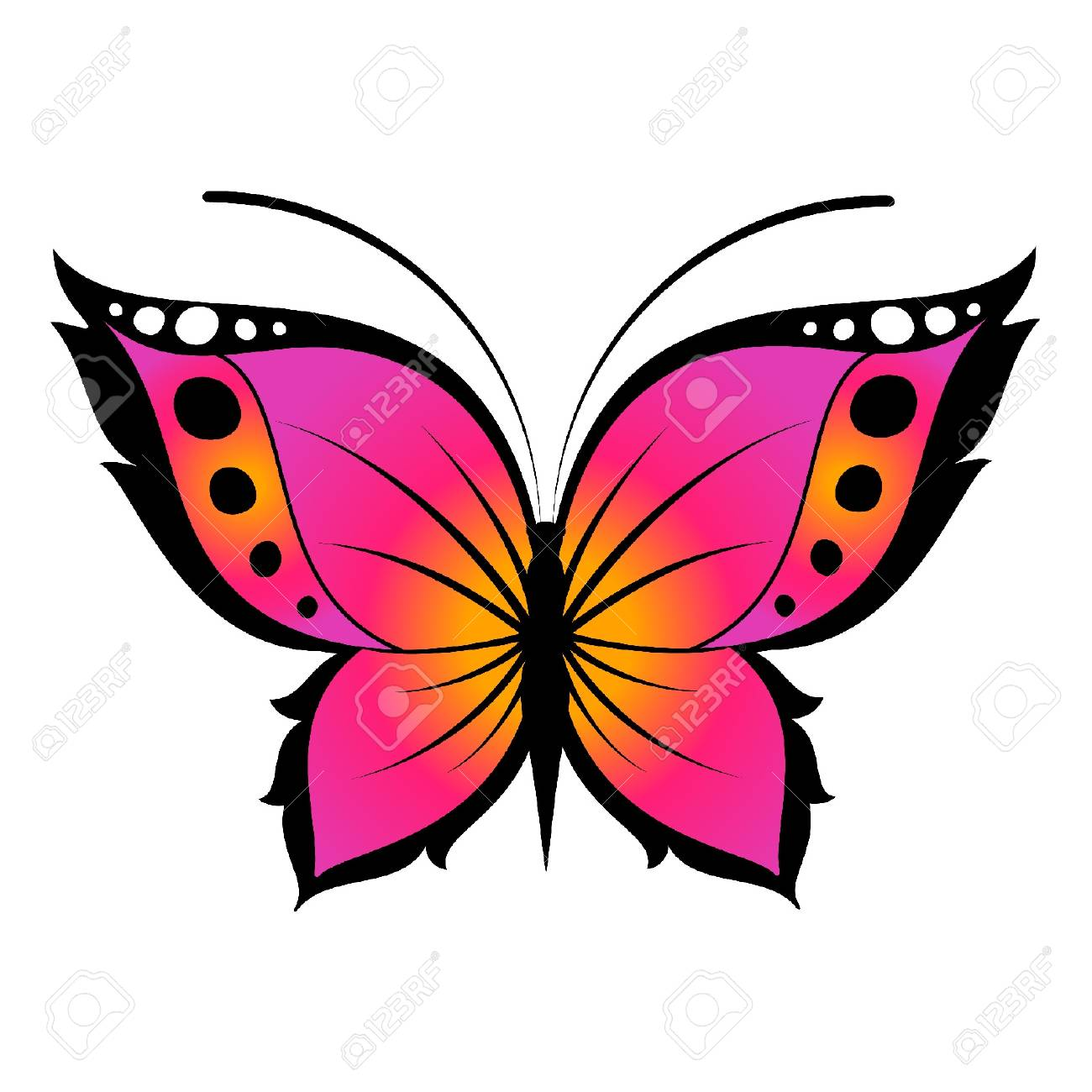 The beautiful butterfly. Stock Vector - 9796826