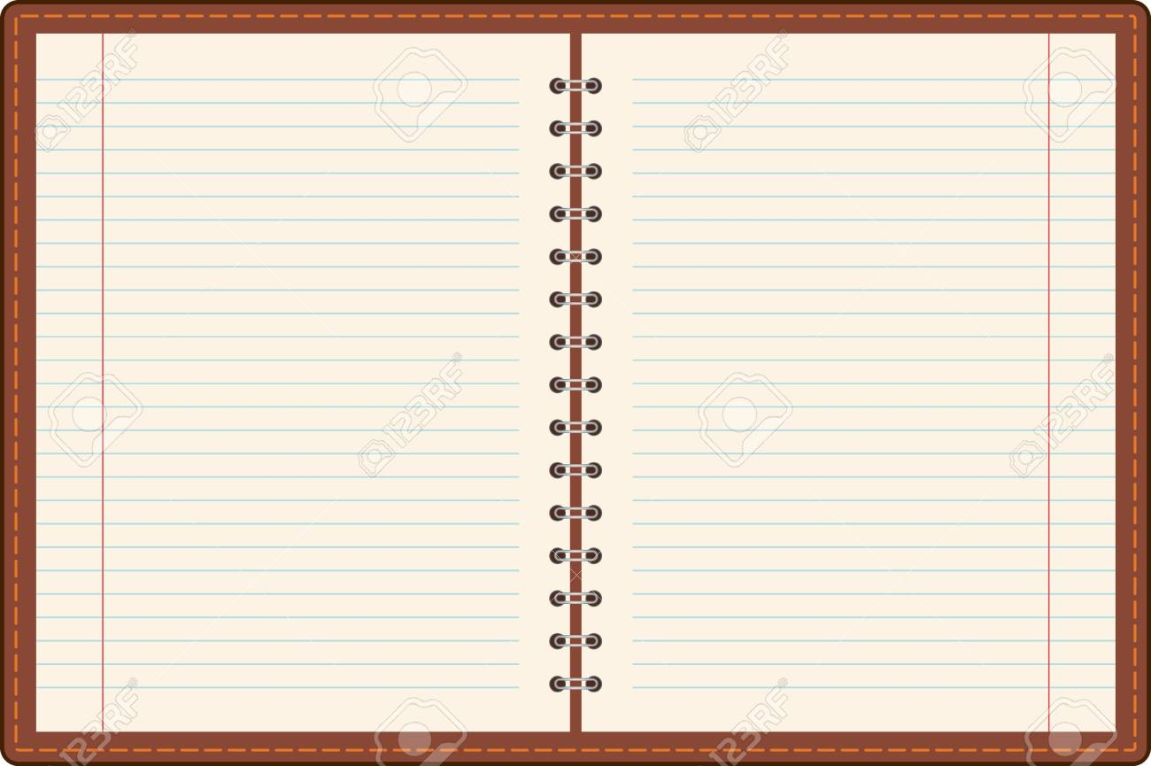 Blank one face white paper notebook Stock Photo - 9871349