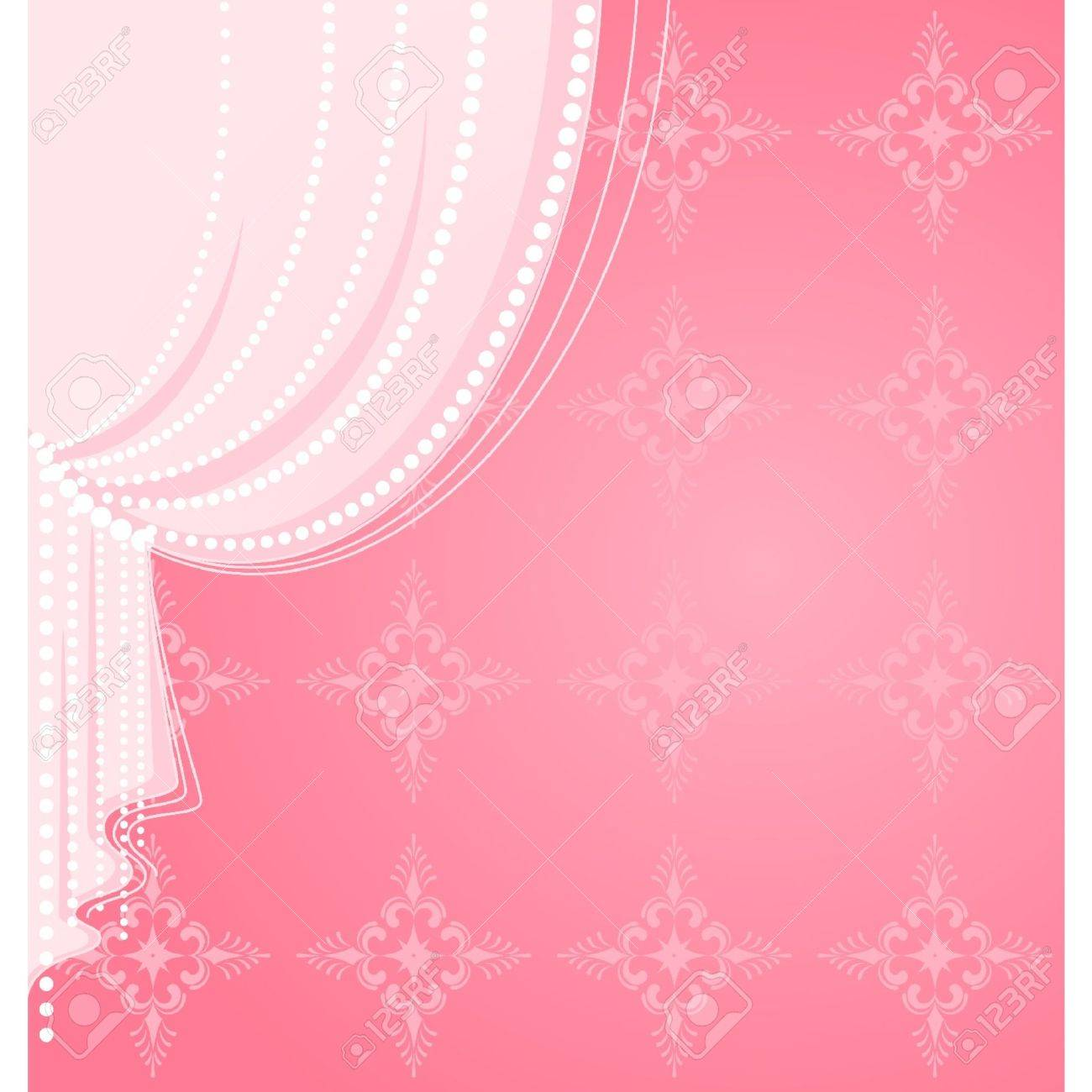 Vector pink curtain Stock Vector - 9871955