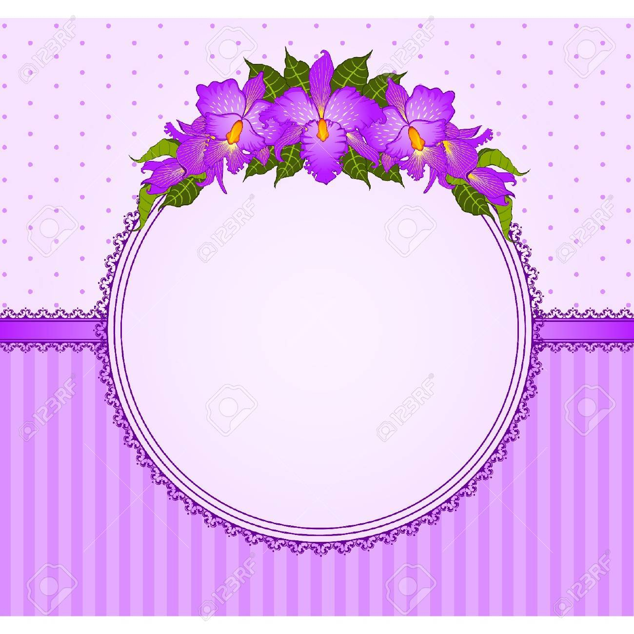 background with beautiful flowers and lace ornaments Stock Vector - 9872090