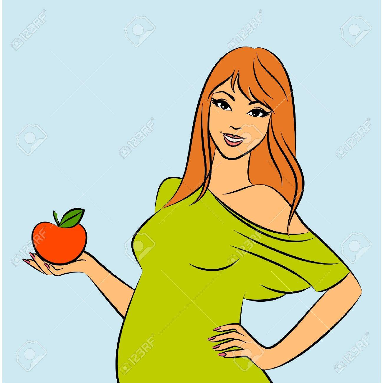 Beautiful pregnant woman. Stock Vector - 10545033