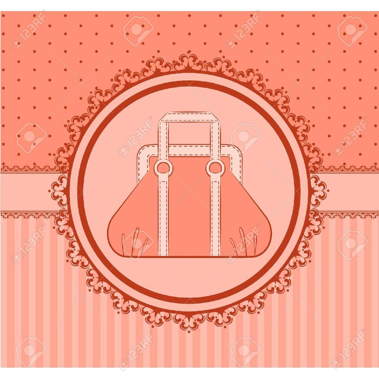 Cartoon woman's bag. Stock Vector - 10608675