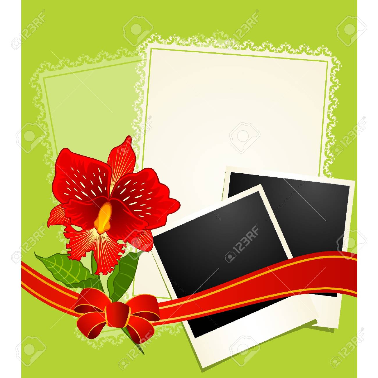 Photo Frames With Flowers Royalty Free Cliparts, Vectors, And Stock ...