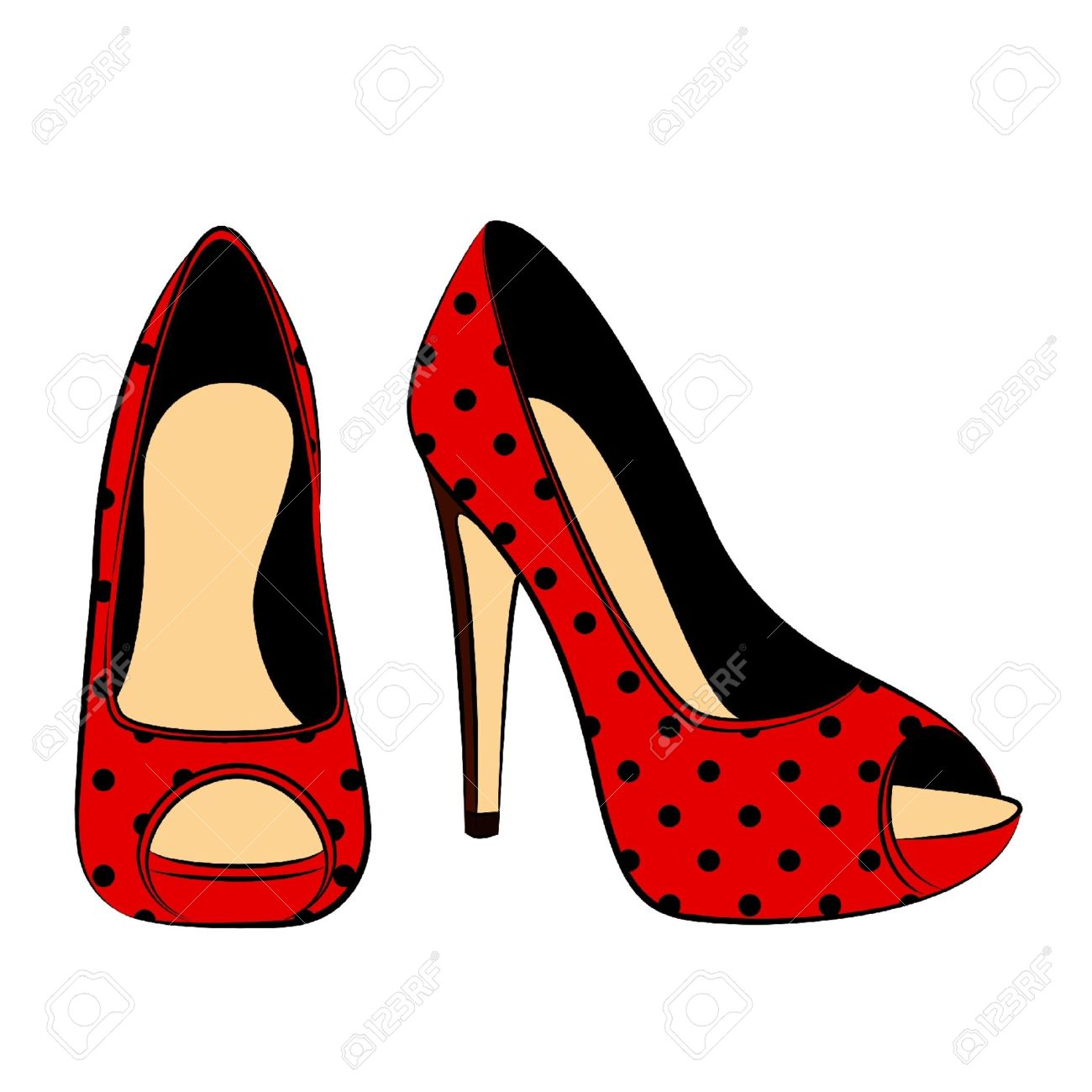 vector beautiful pair of shoes with high heel Stock Vector - 10530957
