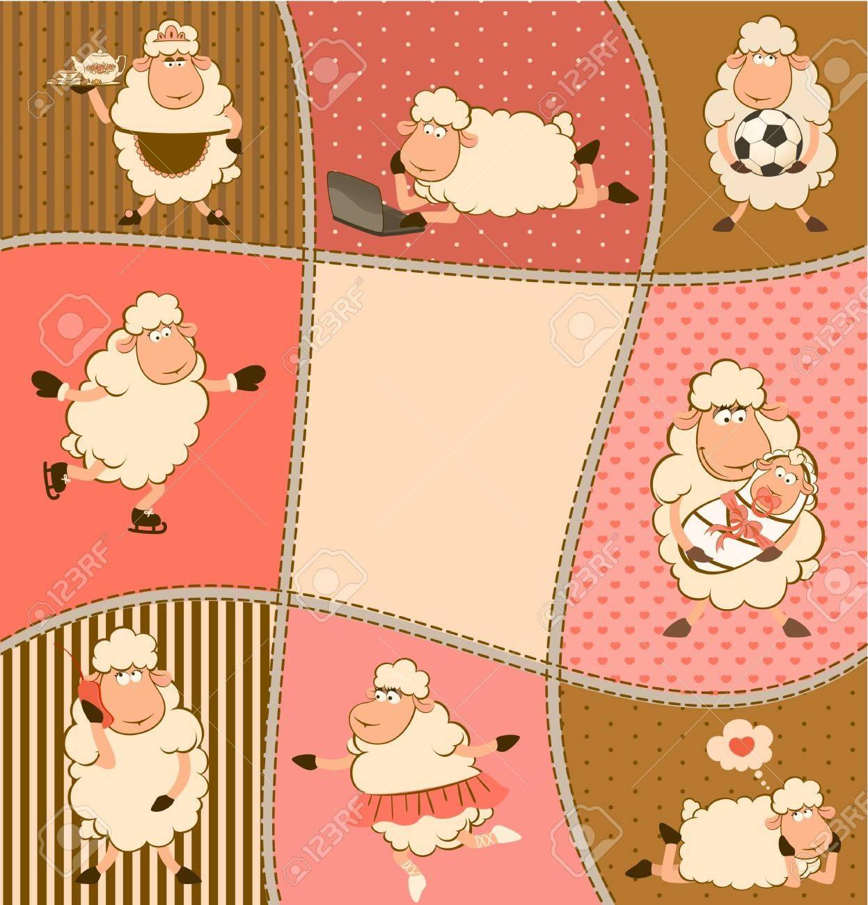illustration of cartoon sheep Stock Photo - 10608811