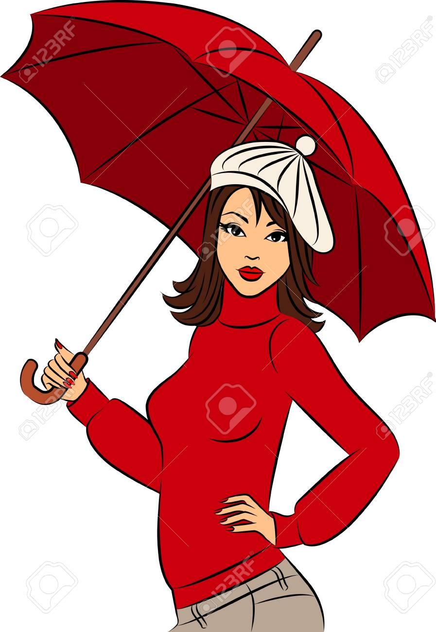 beautiful girl with umbrella Stock Photo - 11104114