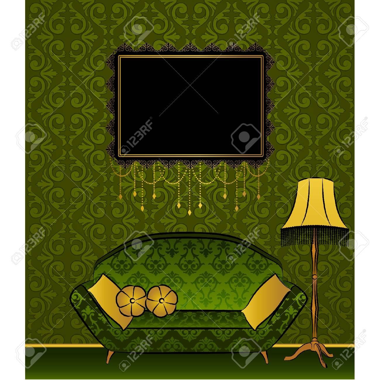 Beautiful classical interior for design. Vector Stock Vector - 11277736
