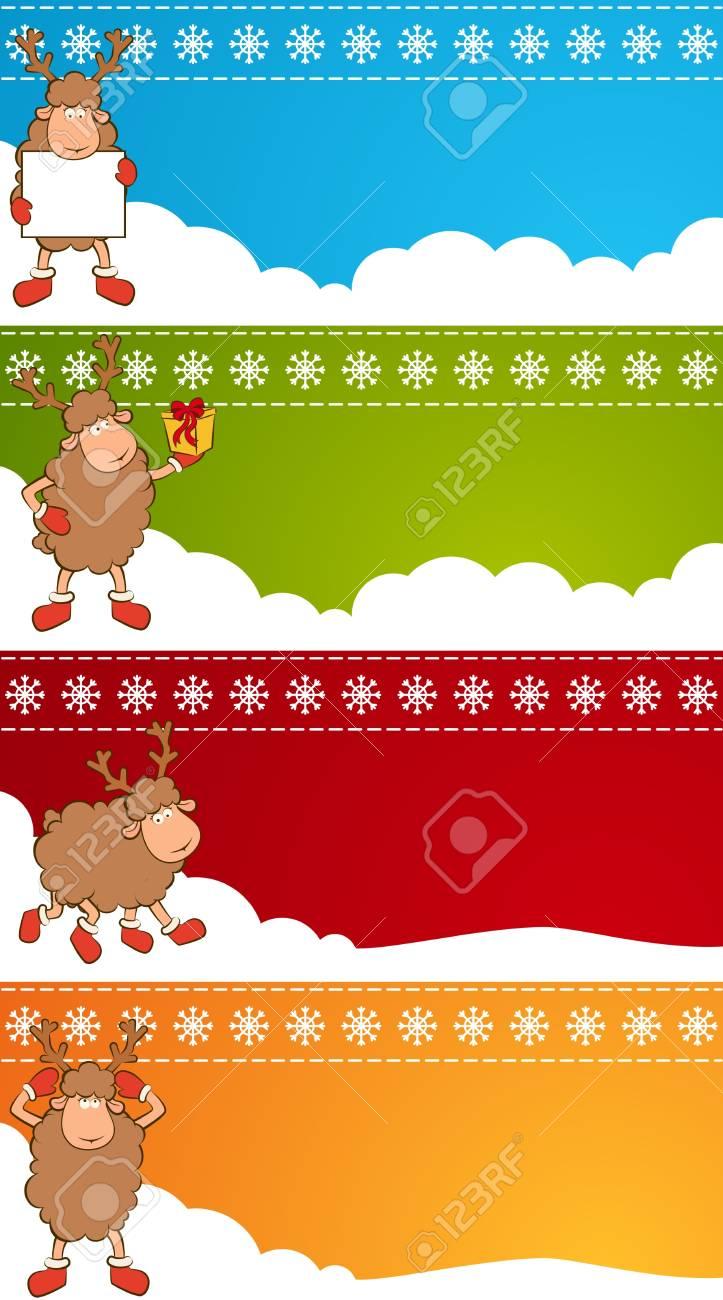 Christmas funny deer. Stock Photo - 11469158