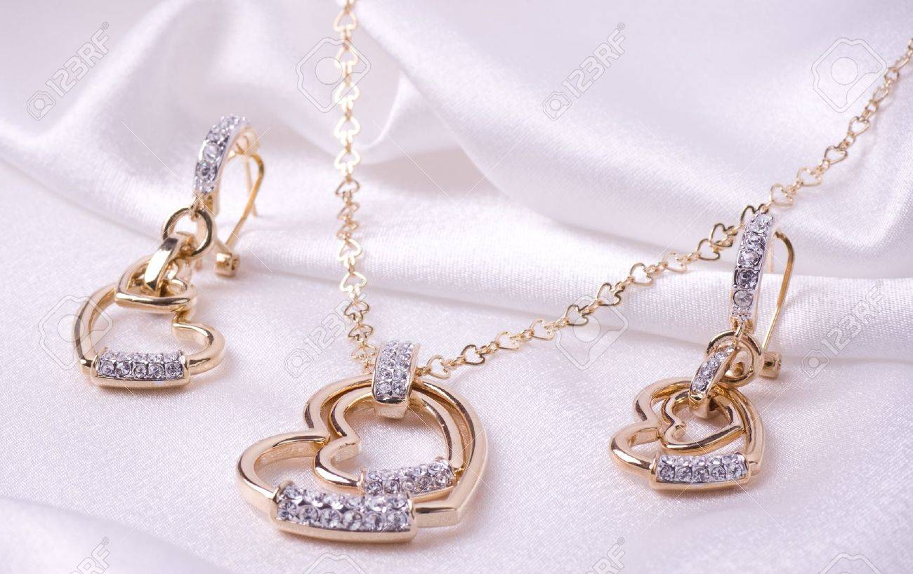 Beautiful Jewelry On Background Stock Photo, Picture And Royalty ...