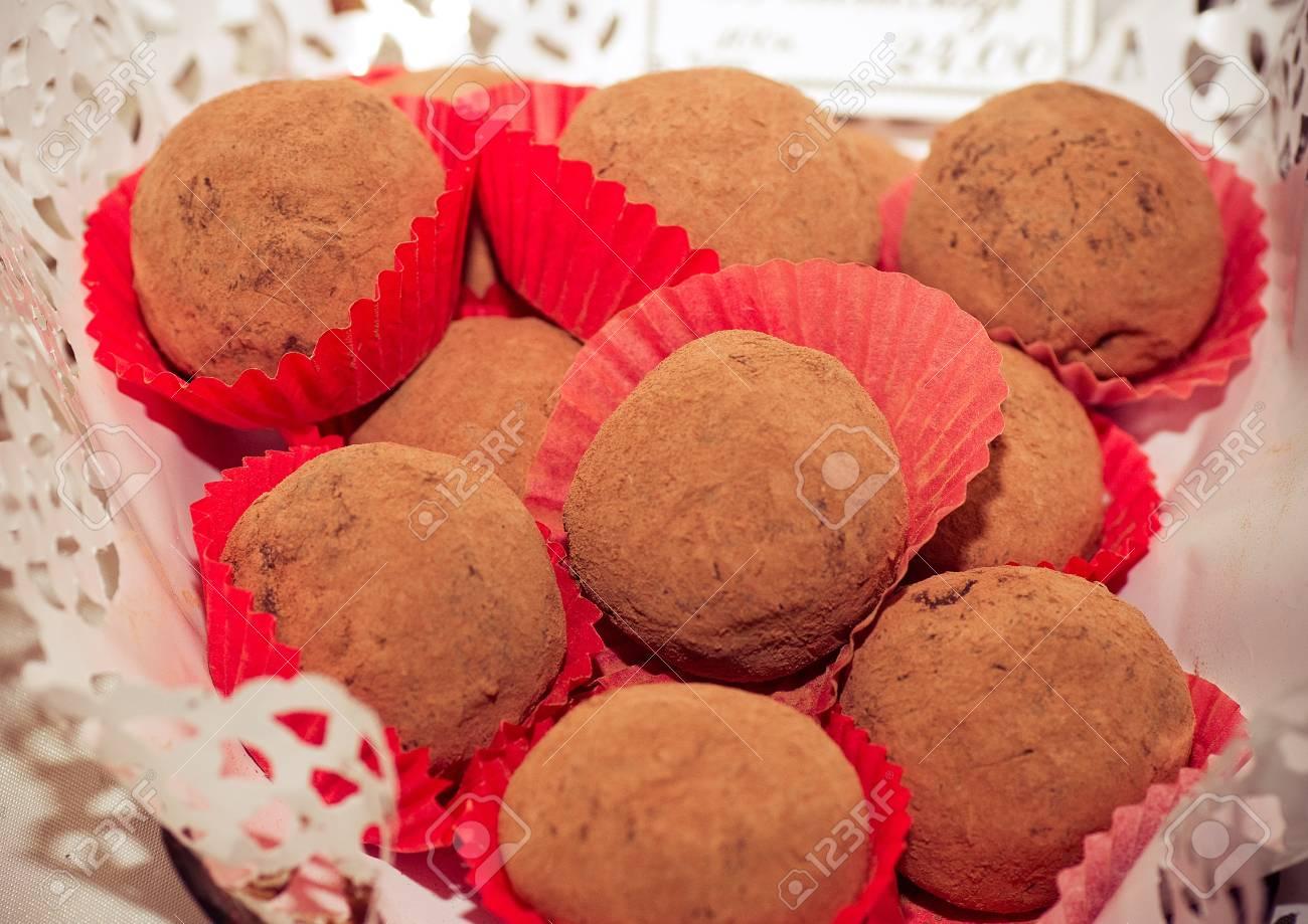 Delicious chocolate pralines Stock Photo - 18553444