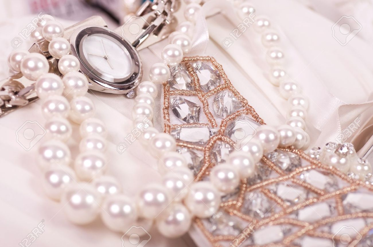Beautiful Jewelry Background Stock Photo, Picture And Royalty Free ...