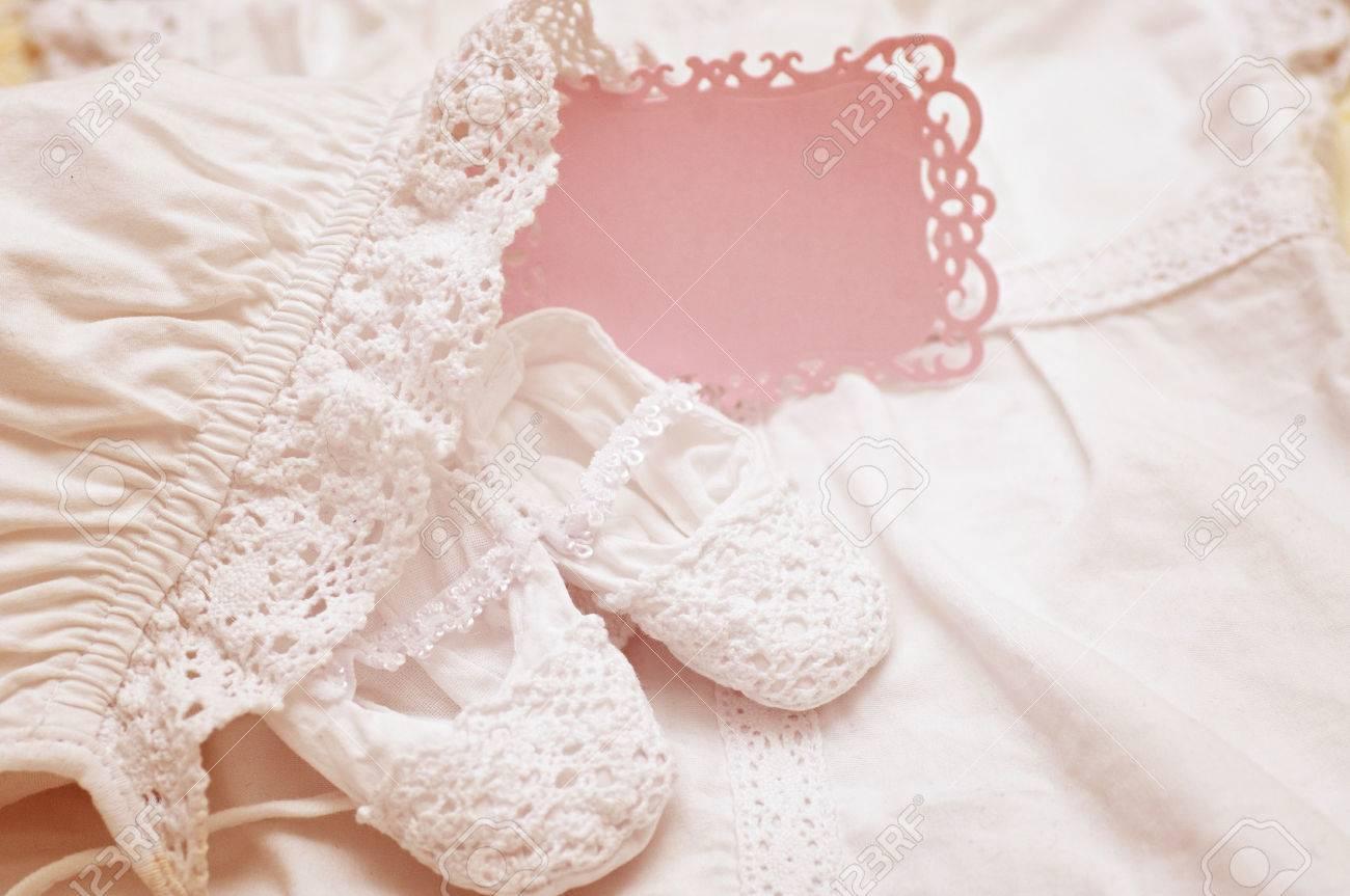 Pour Baptême De Blanche Robe Bébé Et Chaussures uZiXPk