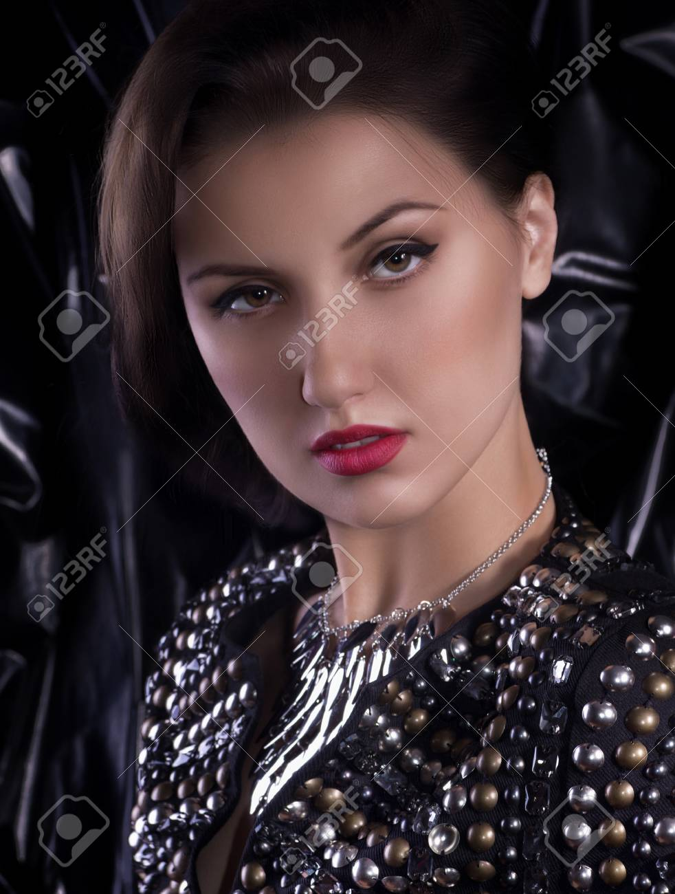 Fashion woman with jewelry precious decorations Stock Photo - 30548607
