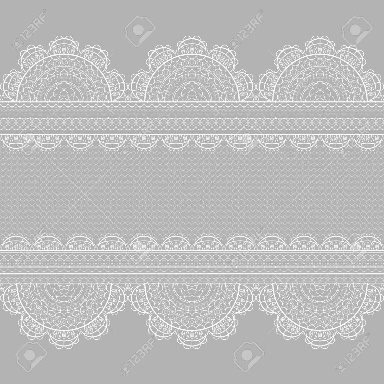 Weiße Spitze Nahtlose Muster. Vorlage Für Hochzeit, Einladung Oder  Grußkarte Mit Spitze Hintergrund.