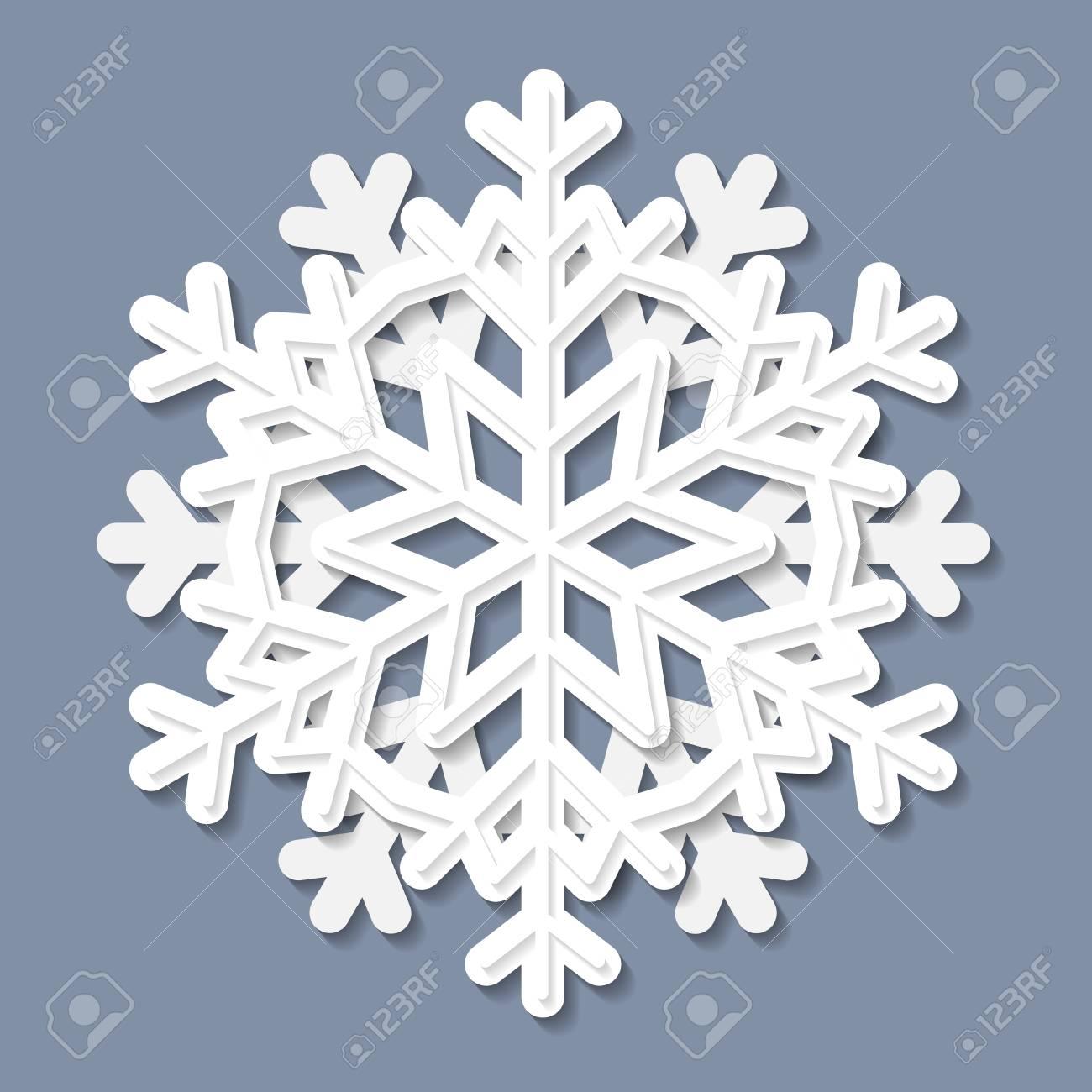 Copo De Nieve 3D Blanco, Patrón En Relieve, Elemento De Diseño ...