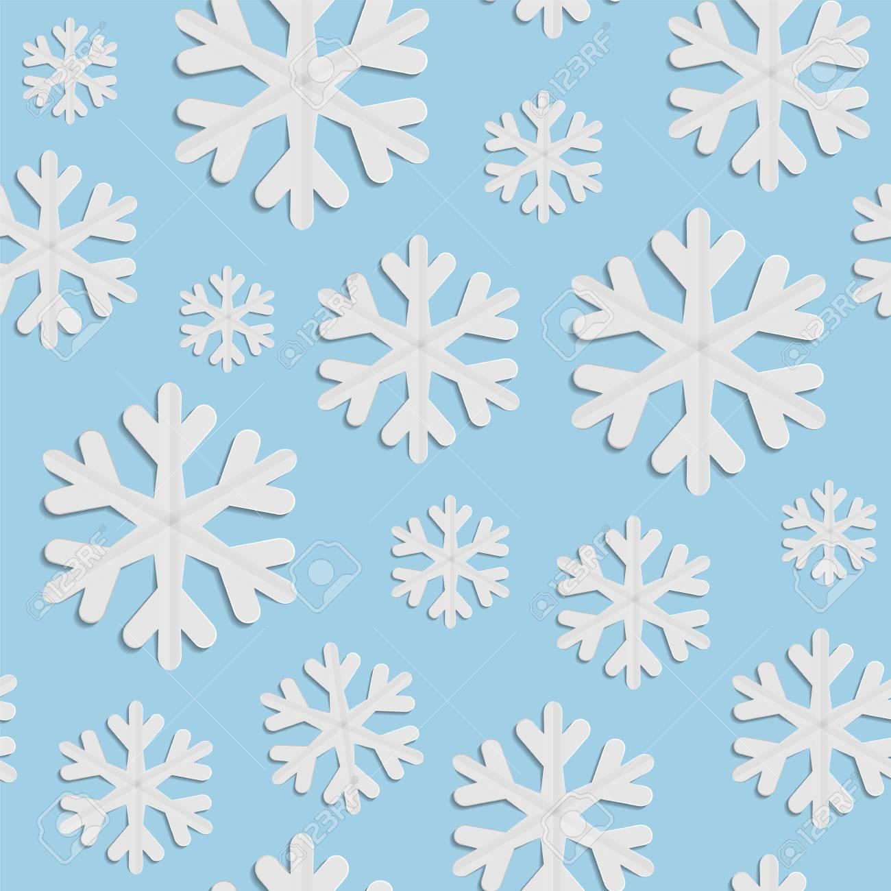 Modello Invernale Senza Soluzione Di Continuità Fiocchi Di Neve Di