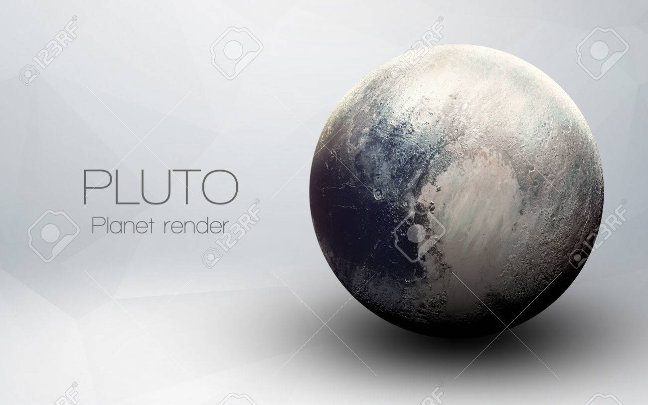 Pluto - High resolution 3D images presents planets of the solar system. - 52315397