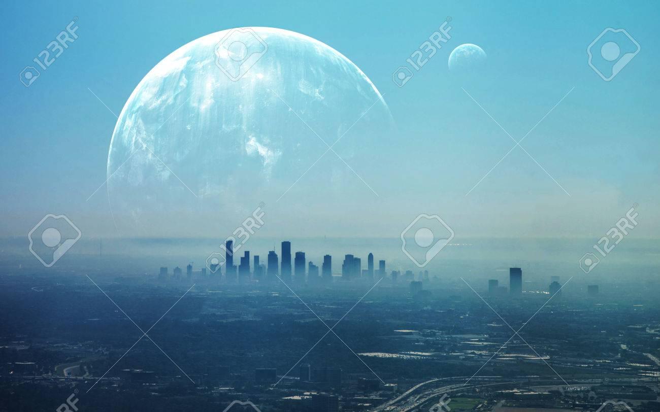 View of Futuristic City. - 62210055
