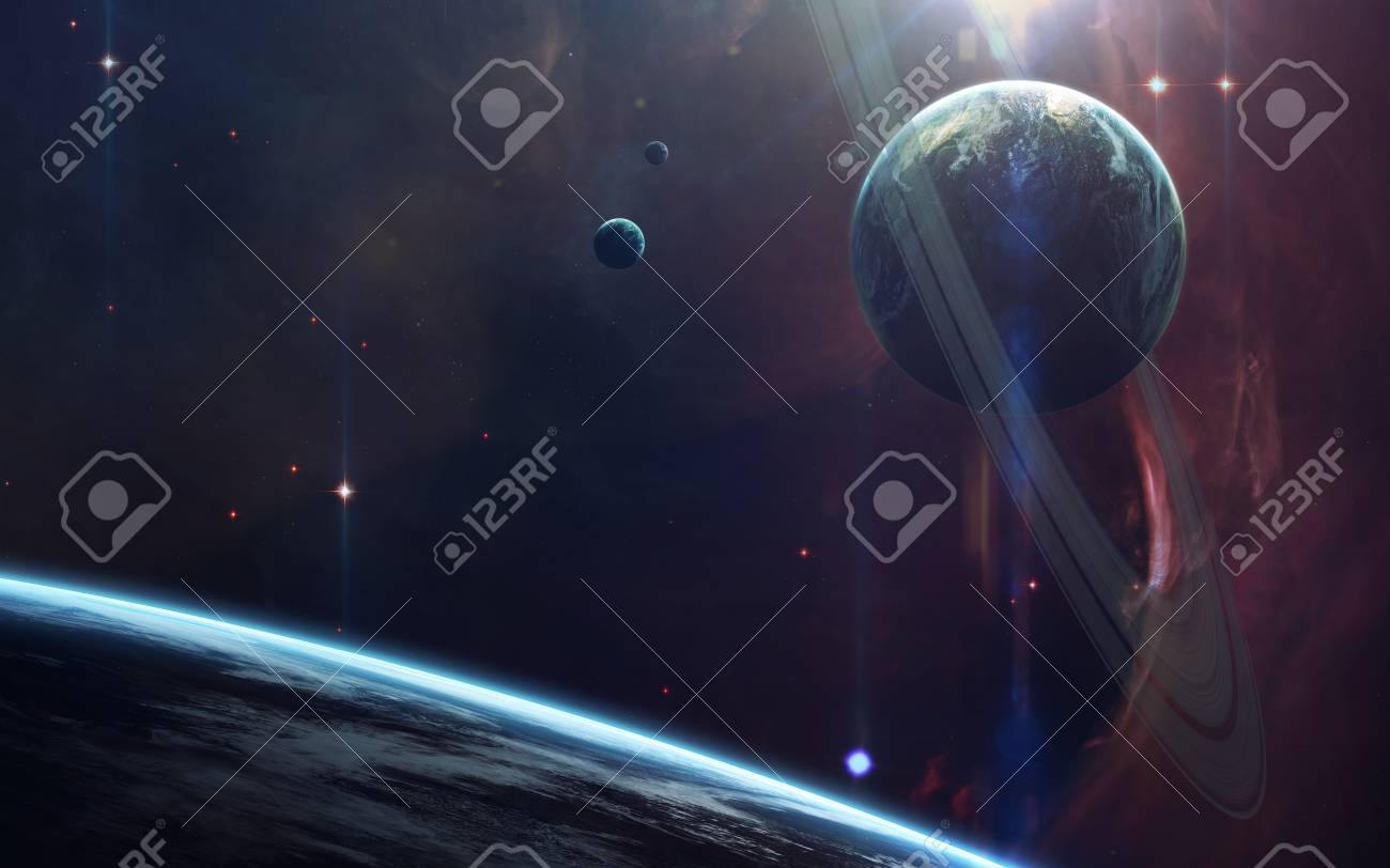 Deep space beauty, planets, stars and galaxies in endless universe. Elements of this image furnished by NASA - 78795097