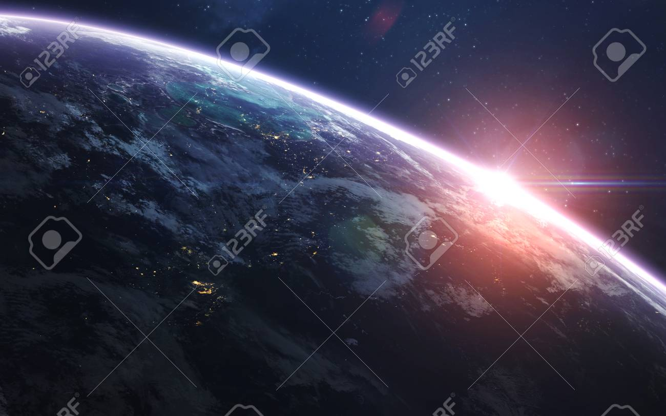 Earth Abstract Space Wallpaper Universe Filled With Stars