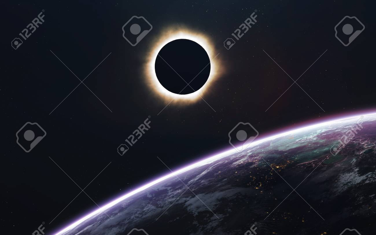 Solar Eclipse Deep Space Image Science Fiction Fantasy In High