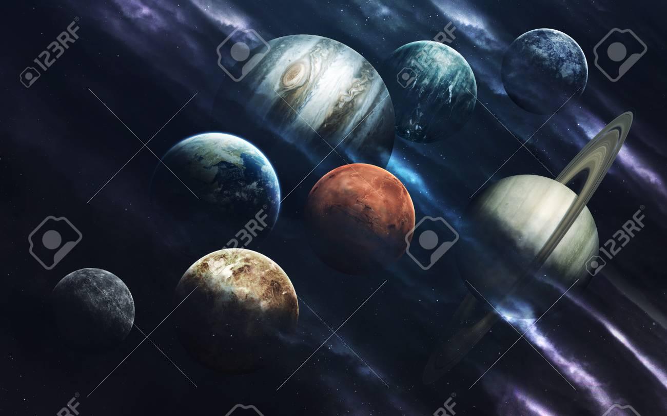 太陽系の惑星 深宇宙の画像は 高解像度の壁紙に最適な印刷で空想科学小説ファンタジー Nasa から提供されたこのイメージの要素 の写真素材 画像素材 Image
