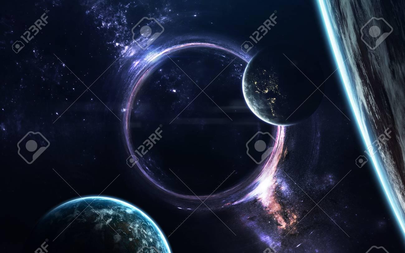 Black Hole Science Fiction Wallpaper