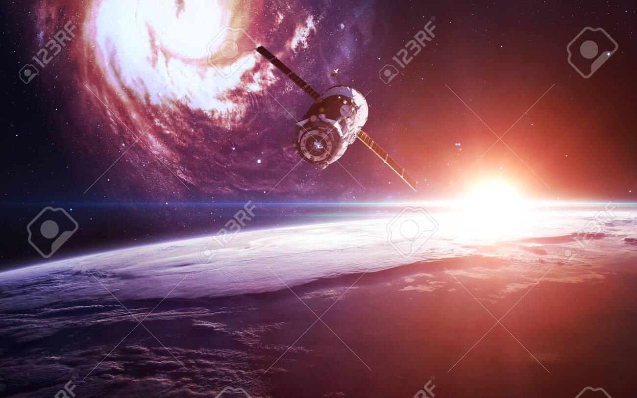 Spacecraft at earth orbit - 149620936
