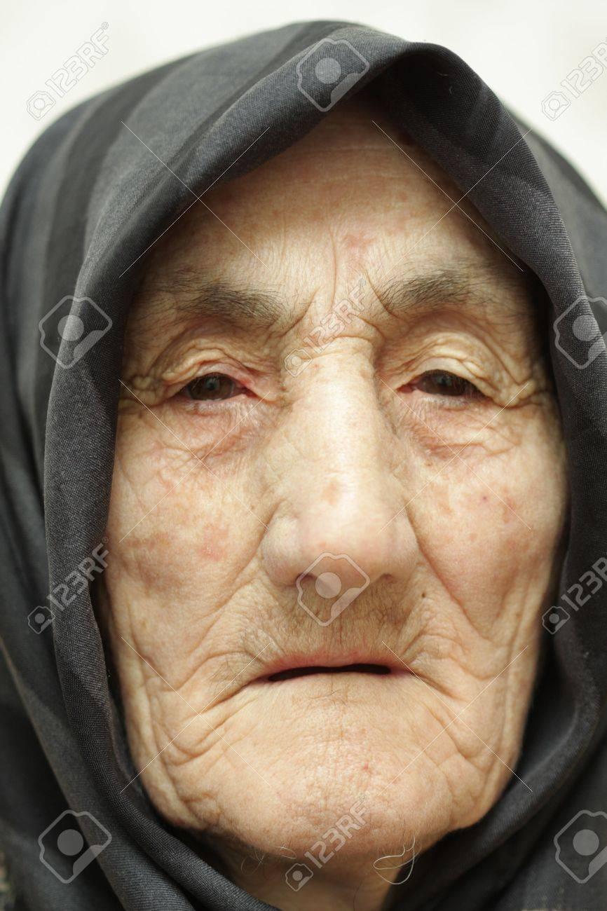 Very old woman face closeup portrait Stock Photo - 3324859